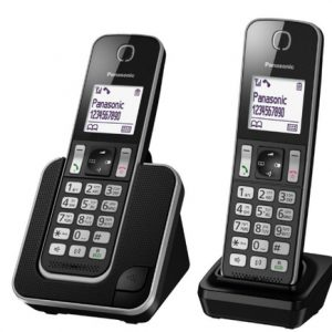 טלפון אלחוטי עם שלוחה בעברית Panasonic פנסוניק KXTGD312
