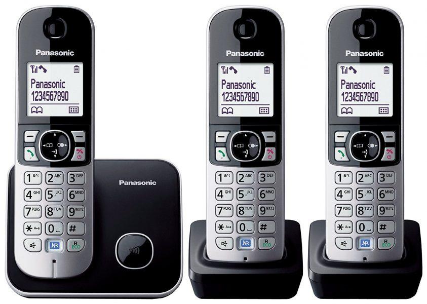 טלפון אלחוטי 3 שלוחות פנסוניק Panasonic KX-TG6813