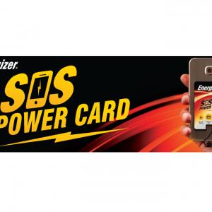 מטען חרום לסלולר ENERGIZER SOS POWERCARD