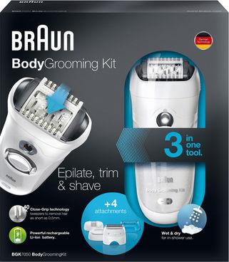 מכשיר להסרת שיער לגברים בראון BRAUN BGK 7050 BODY Grooming kit
