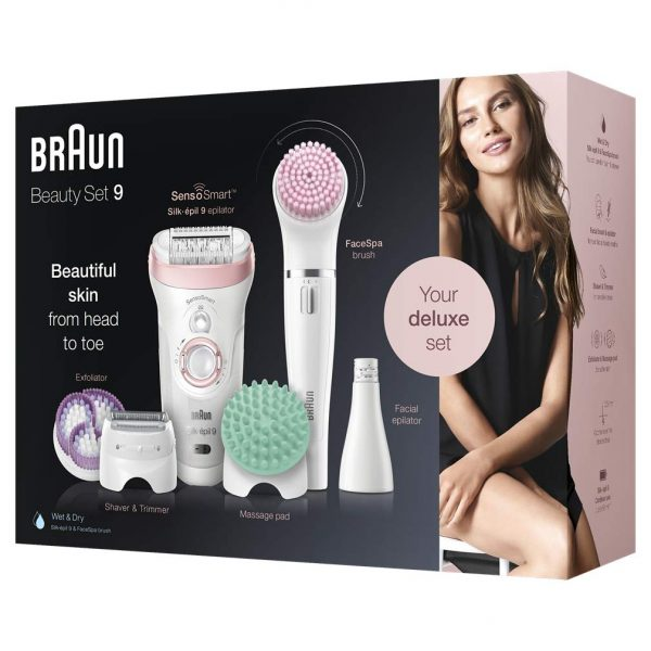 מסיר שיער בראון כולל מסיר שיער פנים Braun series 9 9-995BS
