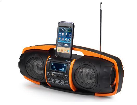 מגה וברק מערכת שמע ניידת נטענת Bluetooth + USB | מערכת שמע בלוטוס SAFA GB3600 JM-29