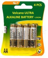 4 סוללות אלקליין AA אצבע Alkaline