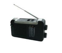 רדיו נטען סולרי ודינמו עם חיבור USB