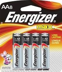 8 סוללות Energizer AA