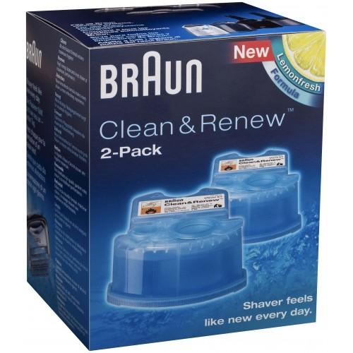 נוזל ניקוי למכונת גילוח בראון זוג BRAUN CCR2