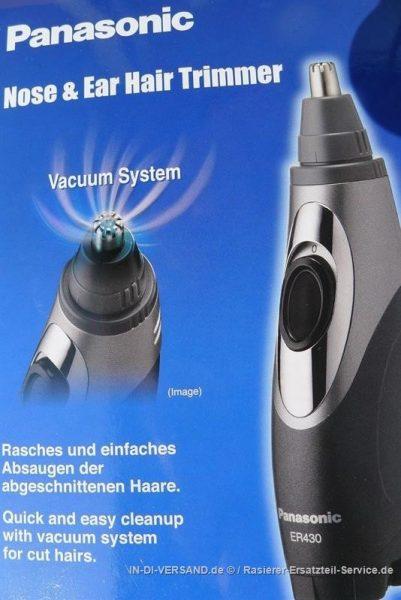 קוצץ שיער אף אוזן עם משאבה PANASONIC ER 430
