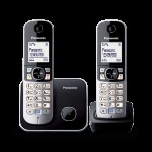 טלפון אלחוטי עם שלוחה פנסוניק בעברית Panasonic KXTG6812