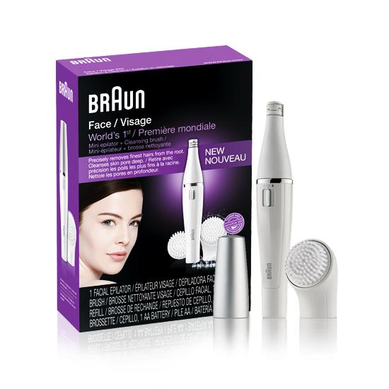 מכשיר להסרת שיער שפם וגבות BRAUN 810