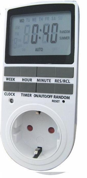 שעון טיימר דיגיטלי לשקע חשמלי