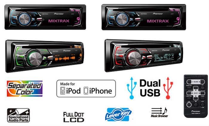 רדיו דיסק פיוניר PIONEER DEH-X7550SD