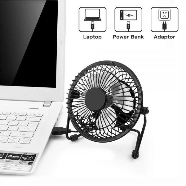מאוורר שולחני בחיבור USB