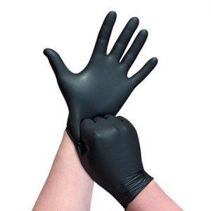 כפפות שחורות למספרה