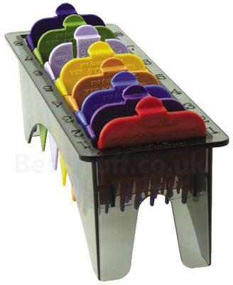סט מסרקים צבעונים למכונת תספורת וואל WAHL