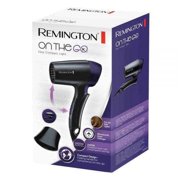 מייבש שיער מתקפל 110 וולט - 240 וולט  Remington D2400