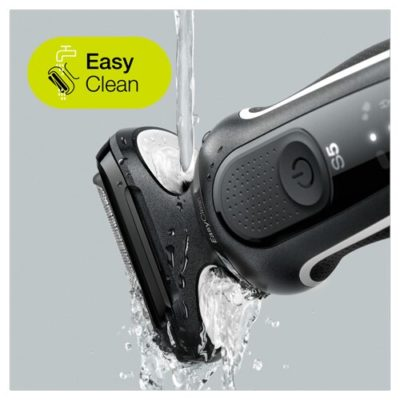 מכונת גילוח בראון BRAUN 50W1000S כולל מתקן שטיפה וראש תספורת