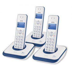 טלפון אלחוטי עם 3 שלוחות AEG AG3000