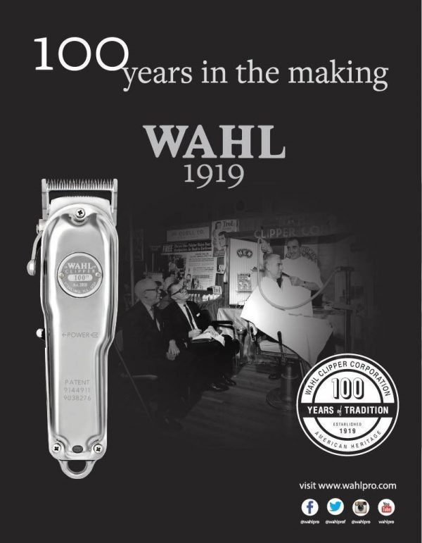 מכונת תספורת WAHL 1919 דגם 100 שנה לוואל