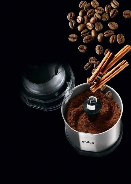 מטחנת קפה ותבלינים BRAUN MQ60 שמתחברת למקל בלנדר בראון