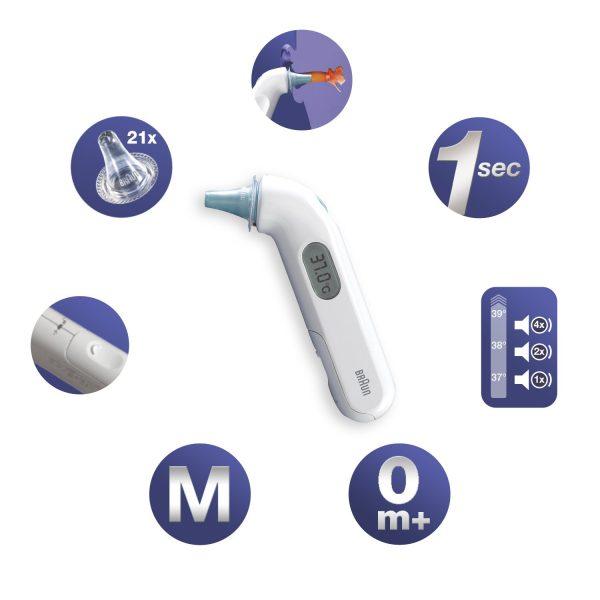 מד חום לאוזן מומלץ של בראון לתינוק IRT3030 BRAUN