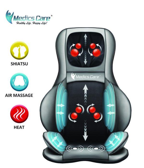 מושב עיסוי שיאצו חשמלי MEDICS CARE MC-2309