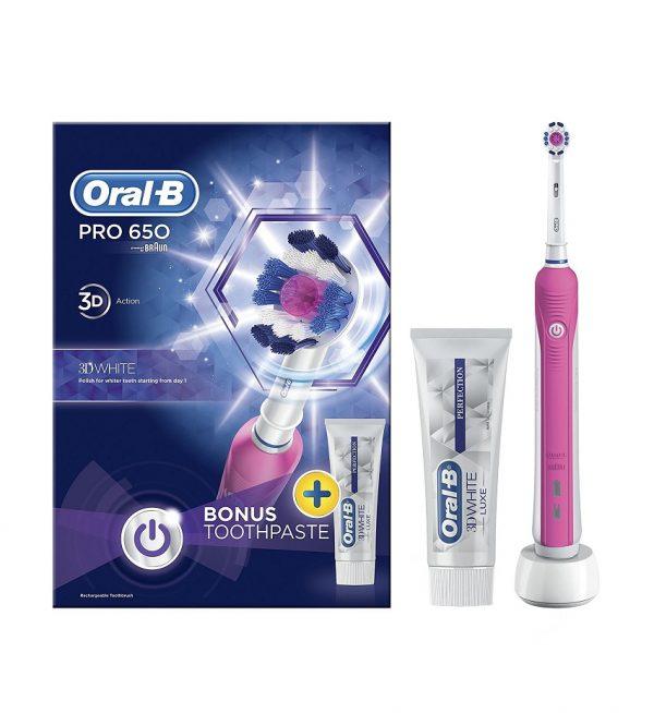 מברשת שיניים חשמלית Oral-B Pro 650 3D