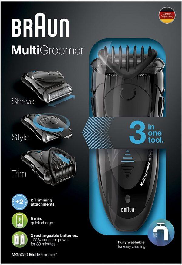 מכונת גילוח ועיצוב זקן בראון החדשה Braun Multigroomer MG5050