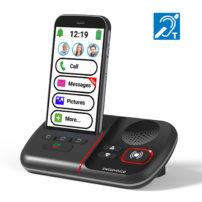 סמארטפון טלפון סלולרי למבוגרים ולכבדי שמיעה של חברת SwissVoice C50S