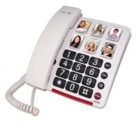 טלפון לאנשים עם מגבלת שמיעה כולל מקשי זכרונות עם תמונות דגם C200