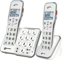 טלפון אלחוטי עם 2 שלוחות לאנשים עם מגבלת שמיעה DECT595-2 Geemarc